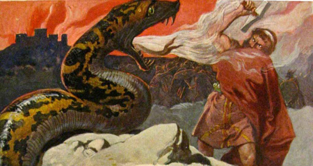 Thor y Jormungand
